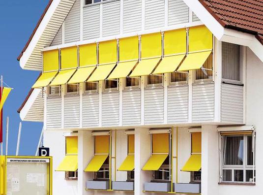 Markisolette markise trifft jalousette bei danker Balkon markise horizontal